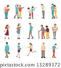 People in various lifestyles 13289372