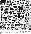 Over 200 silhouettes fauna of Africa 13296262