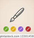 vector, pen, icon 13301458