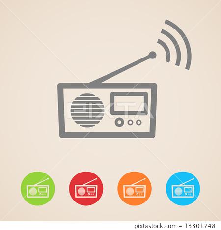 vector radio icons  13301748