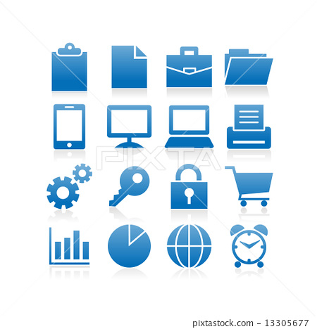 Business icon set 13305677