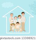 3 세대 가족과 집 13306921