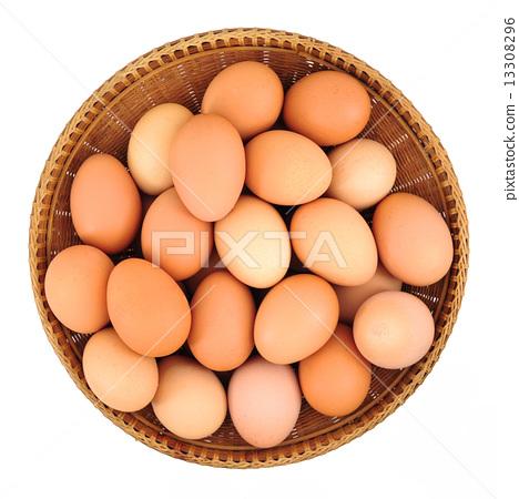 eggs, basket, brown 13308296
