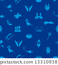 blue simple fairy tales theme seamless pattern eps10 13310938