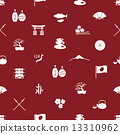 Japanese icons seamless pattern eps10 13310962