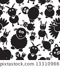 icons, rabbit, farm 13310966
