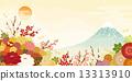 富士山 背景 點綴 13313910