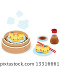Cute Dim sum - Chinese Food EPS10 13316661