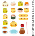 Cute DimSum Collection Vector File EPS10 13316665