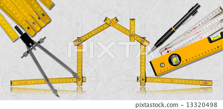 House Project - Yellow Wooden Meter 13320498