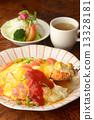 大米煎蛋 蛋包飯 烹調的 13328181