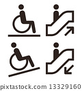 Escalator and facilities for disabled symbols 13329160