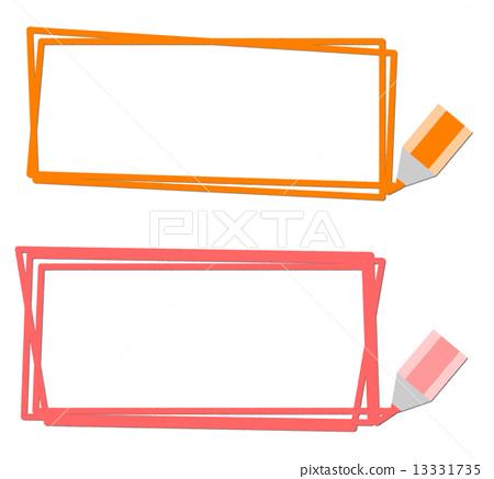框架和彩色的铅笔 13331735