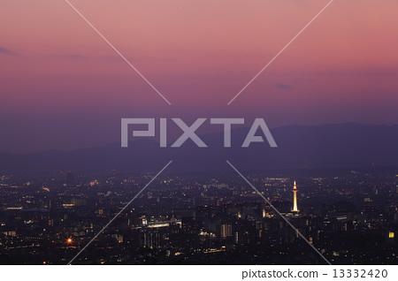 Dusk of Kyoto City 13332420