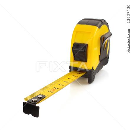 tape measure on white 13337430