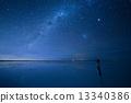 starry sky, salar de uyuni, south american 13340386