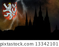 Prague casle - Cathedral of St Vitus - monuments of mysterious c 13342101