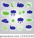 weather stickers icons set eps10 13342240