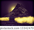 Buddhist Temple in mountains 13342470