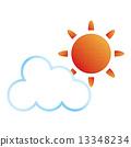 태양, 구름, 날씨 예보 13348234