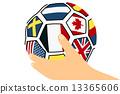 มือกับลูกฟุตบอล 13365606