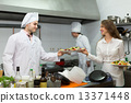 restaurant, waitress, kitchen 13371448