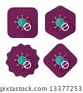 바이러스, 아이콘, 평면 13377253