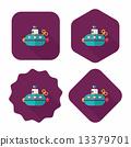 海洋 潜水艇 图标 13379701