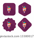 ice cream flat icon with long shadow,eps10 13380017