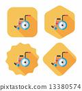 wheelchair wheel shadow 13380574