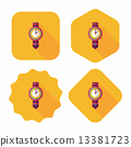 watch flat icon with long shadow,eps10 13381723