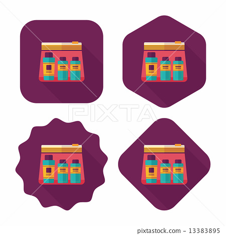 cosmetics containers flat icon with long shadow 13383895