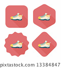 sneaker flat icon with long shadow,eps10 13384847