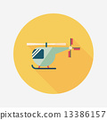helicopter, icon, illustration 13386157