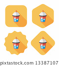 iced drink flat icon with long shadow,eps10 13387107