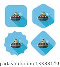 海洋 潜水艇 图标 13388149