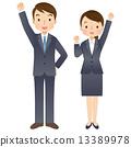 商務人士 男女 男人和女人 13389978