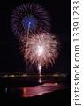 Summer festival fireworks display image 13391233