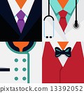 """Vector Flat Icons Design 4 Occupations """"Businessman, Doctor, Che 13392052"""