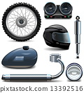 Vector Motorcycle Spares Icons 13392516