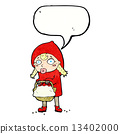 little red riding hood cartoon with speech bubble 13402000