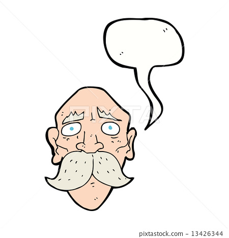 Old Man Face Cartoon Cartoon Sad Old Man With