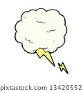 comic cartoon thundercloud symbol 13426552