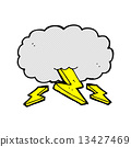 comic cartoon thundercloud 13427469