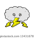 comic cartoon thundercloud 13431678
