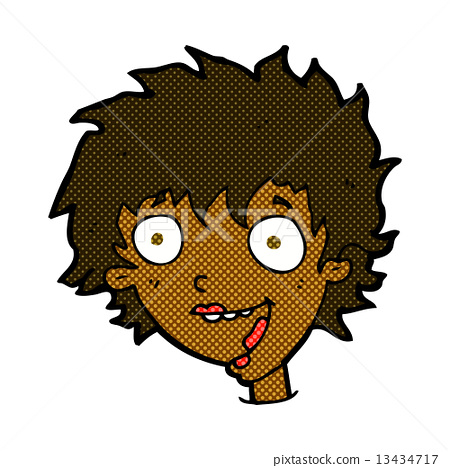 Comic Cartoon Crazy Excited Woman Stock Illustration 13434717 Pixta