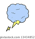 comic cartoon thundercloud symbol 13434852