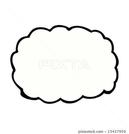 Comic Cartoon Cloud Symbol Stock Illustration 13437959 Pixta