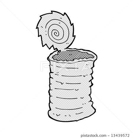 comic cartoon old tin can - Stock Illustration [13439572 ...