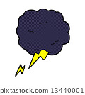 comic cartoon thundercloud symbol 13440001
